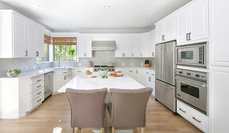 European White Kitchen Before & After