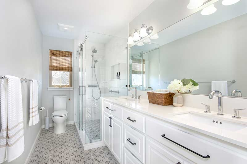White Fresh Main Bathroom